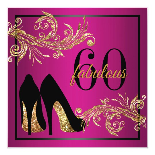Dancing Shoes - Fabulous 60th Birthday Invitation