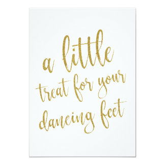 Dancing Shoes Gold Glitter Affordable Sign Card
