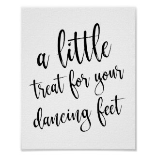 Dancing Shoes Shoes Black and White 8x10 Sign