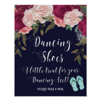dancing shoes sign a little treat for your feet poster