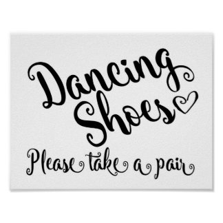 Dancing shoes wedding print