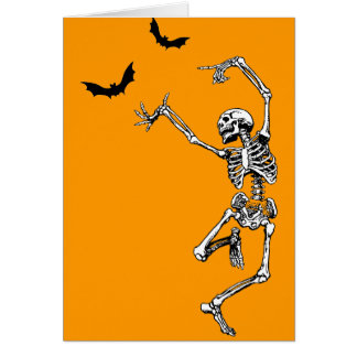 Dancing Skeleton Card