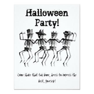 Dancing Skeleton 11 Cm X 14 Cm Invitation Card