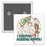 Dancing Skeleton Nursing School Survivor Button