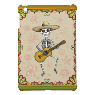 Dancing Skeleton Playing Guitar iPad Mini Case