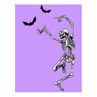 Dancing Skeleton Postcard