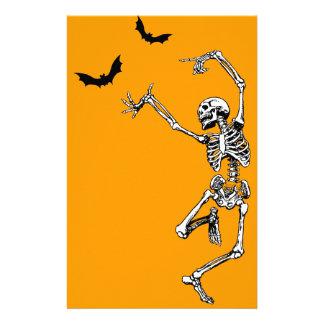 Dancing Skeleton Stationery Paper