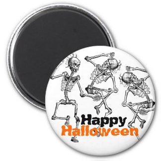 Dancing Skeletons Bones Happy Halloween Party Deco 6 Cm Round Magnet
