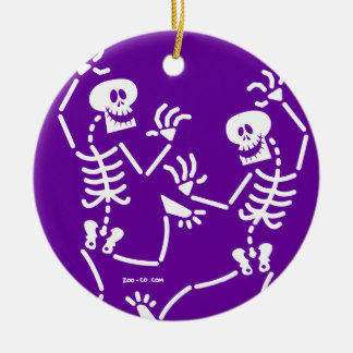 Dancing Skeletons Christmas Ornament