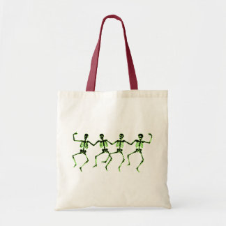 Dancing Skeletons, Green Glow Tote Bag