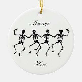 Dancing Skeletons Halloween Thunder_Cove Christmas Ornament