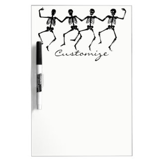 Dancing Skeletons Halloween Thunder_Cove Dry Erase Board