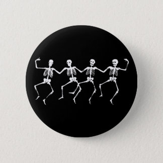 Dancing Skeletons II 6 Cm Round Badge