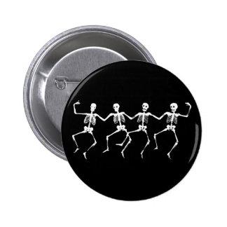 Dancing Skeletons II 6 Cm Round Badge