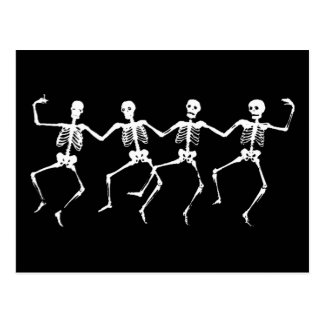 Dancing Skeletons II Post Cards