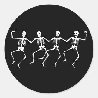 Dancing Skeletons II Round Sticker
