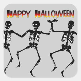 Dancing Skeletons Square Sticker