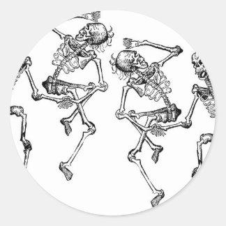 Dancing Skeletons Round Sticker