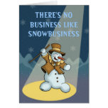 dancing snowman holiday greetingcard greeting card