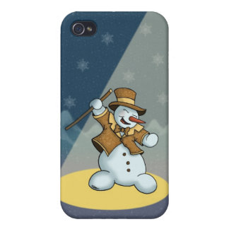 dancing snowman iPhone4 speckcase iPhone 4 Cover