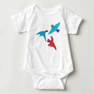 Dancing Sparrows Baby Bodysuit