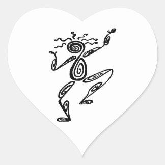 Dancing Spirit Heart Sticker