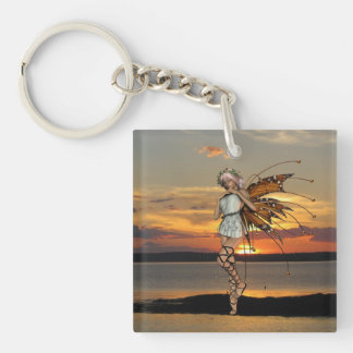Dancing Sprite Single-Sided Square Acrylic Keychain
