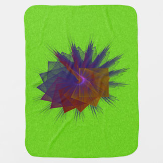 Dancing Squares Abstract Fractal Art Receiving Blankets