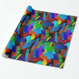 Dancing Squares Wrapping Paper