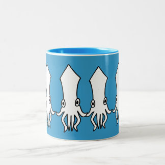 Dancing squids Two-Tone coffee mug