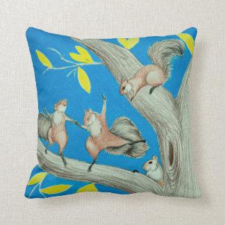 Dancing Squirrels Pillow