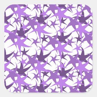 Dancing Stars Pastel Square Sticker