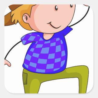 Dancing Square Sticker
