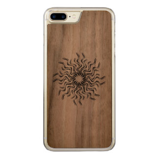 Dancing Sun Carved iPhone 7 Plus Case
