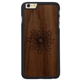 Dancing Sun Carved Walnut iPhone 6 Plus Case