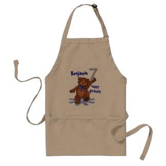 Dancing Teddy Bear 7th Birthday for Boy Standard Apron