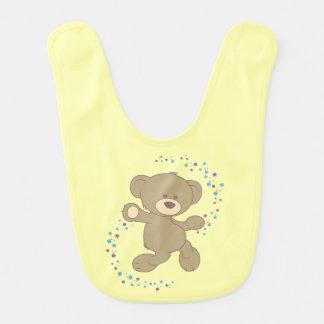 Dancing Teddy Bear Baby Bibs