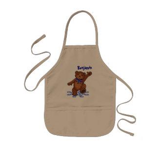 Dancing Teddy Bear Kids Apron