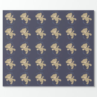 Dancing Teddy Bear Wrapping Paper