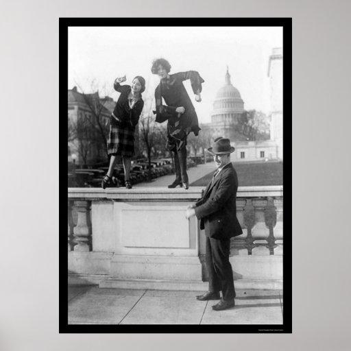 Dancing the Charleston in Washington, DC 1925 Poster