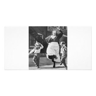 Dancing the day away personalised photo card