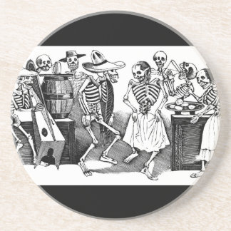 """Dancing the Jarabe in the Other World"" Drink Coasters"