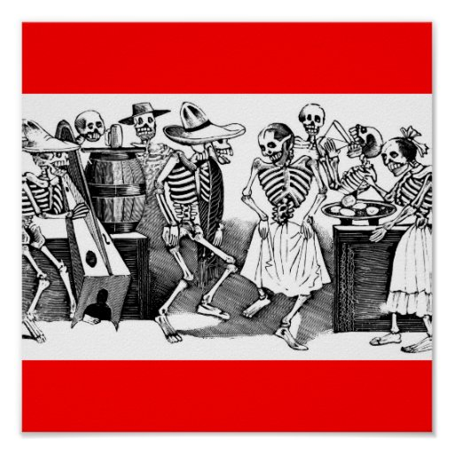 """Dancing the Jarabe in the Other World"" Print"