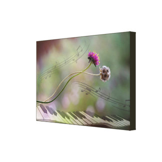 dancing to the music canvas print