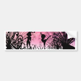 Dancing to violin music bumper sticker