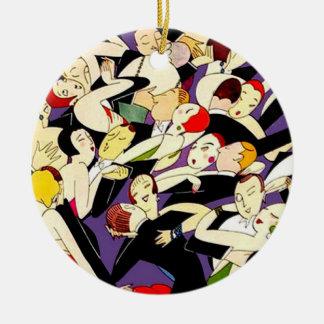 Dancing Vintage Couples Christmas Ornament
