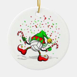 Dancing Volleyball Christmas Elf Christmas Ornament