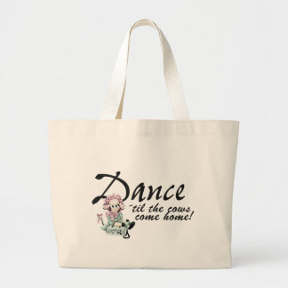Dancing with Cows Large Tote Bag