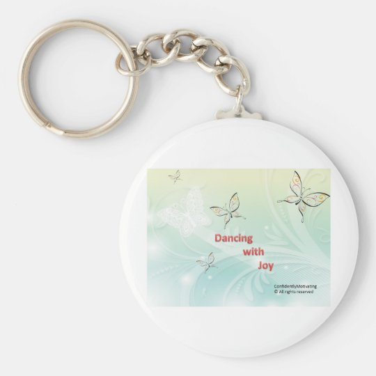 Dancing with Joy Basic Round Button Key Ring