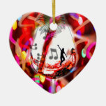 Dancing with music and colour ceramic heart decoration